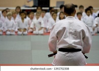 Judo Professor and his students