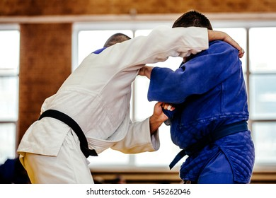 judoka wrestlers heavyweight in judo competition