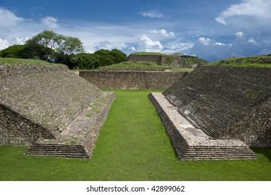 The Juego de Pelota or Ball Court, Monte Alban, Oaxaca, Mexico