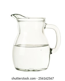 jug of water isolated on white