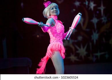 juggler in the circus