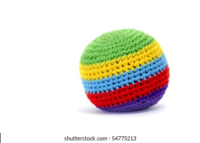 a of juggling ball isolated on a white background
