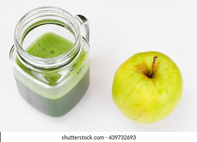 Juice from Apple, Cucumber and Parsley Studio Photo
