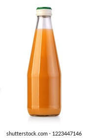 juice bottle isolated on white background with clipping path