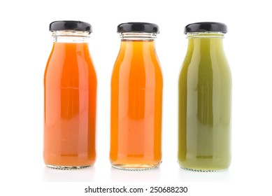 Juice bottle isolated on white background