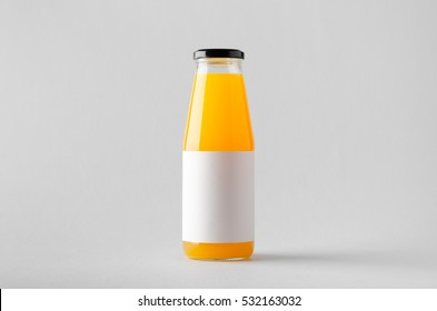 Juice Bottle Mock-Up - Blank Label