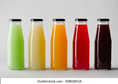 Juice Bottle Mock-Up - Multiple Bottles