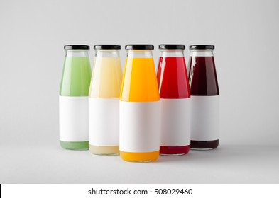 juice bottle mock up three bottles blank stock photo edit now