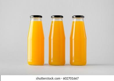 juice bottle mock up multiple bottles stock photo edit now