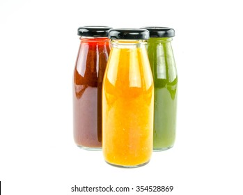 Juice bottle  on white background