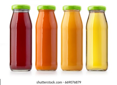 juice bottles isolated on white background ,