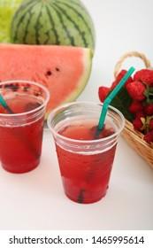 Juice of a fresh Japanese watermelon