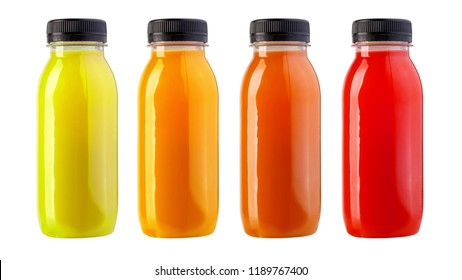 Juice in a Plastic Bottle Isolated on White background