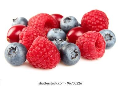 Juicy berries in closeup