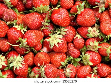juicy bright ripe strawberries background