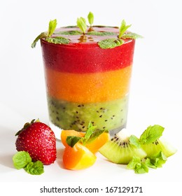 Juicy, colorful, delicious dessert with fruit for all