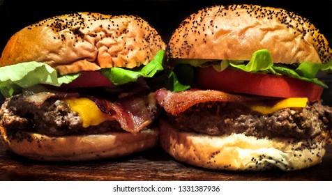 Juicy Duo BLT Cheeseburger