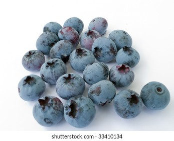 Juicy and fragrant berries of a garden blueberry