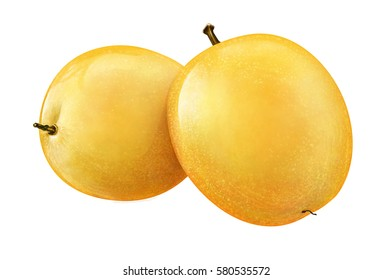 Juicy fresh of pears on whtie background H
