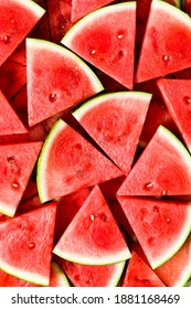 Juicy, Fresh Sliced Watermelon Wedges
