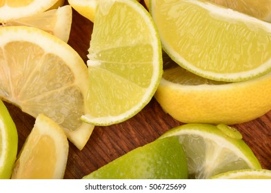 juicy and healthy lemons and limes closeup