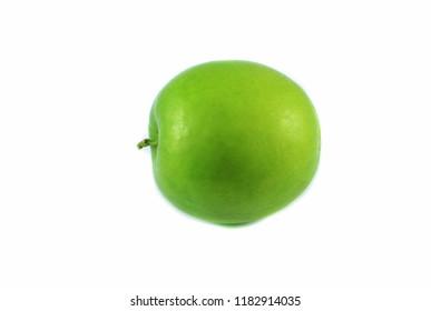 Juicy jujube isolated / Fresh green juicy jujube on white background - Other names Indian plum , jujube monkey apple