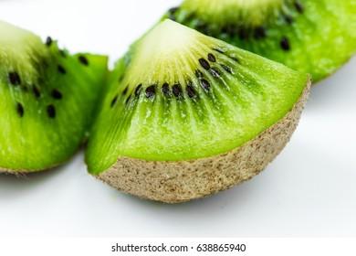 Juicy kiwi fruit on white