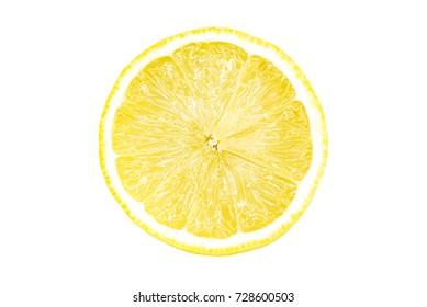 Juicy Lemon sliced isolated on white background