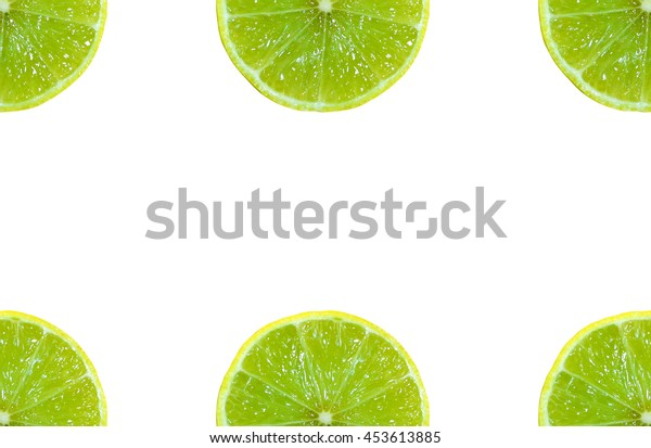 Juicy lemons slice isolated on white background, Top view.