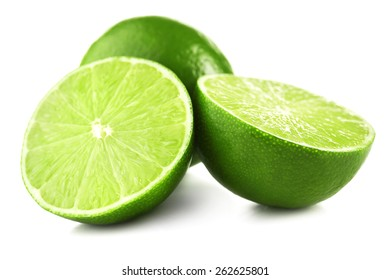 Juicy lime isolated on white