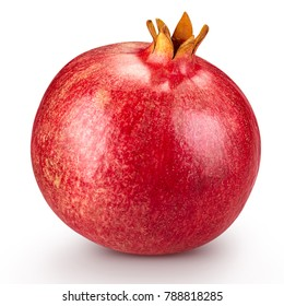 Juicy pomegranate fruit Isolated on a white background. Clipping Path