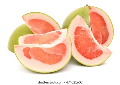 juicy pomelo isolated on white background