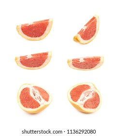 Juicy red grapefruit isolated
