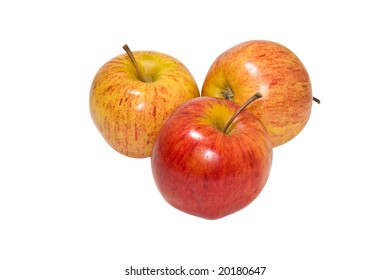 Juicy, ripe apples isolated on a white background