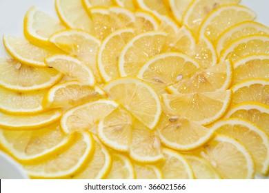Juicy slices of lemon