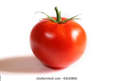 juicy tomato with a shadow
