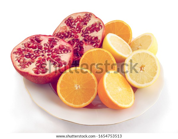 juicy tropical fruits and juice