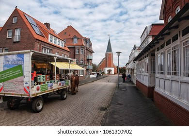 JUIST, GERMANY - APRIL 03: Juist is a Frisian Island on which no cars are allowed to drive.