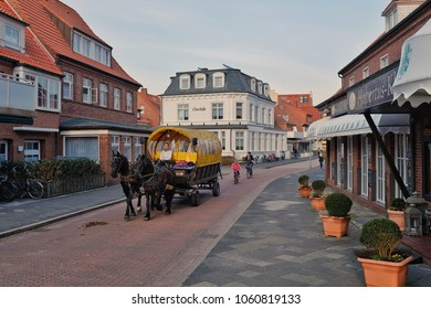 JUIST, GERMANY - MARCH 31: Juist is a Frisian island on which no cars are allowed to drive.