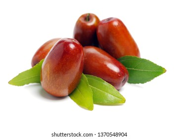jujube or chinese date on white background