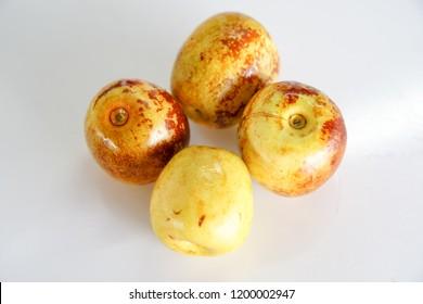 Jujube Fruits (Ziziphus jujube. Exotic fruit. Chinese date)