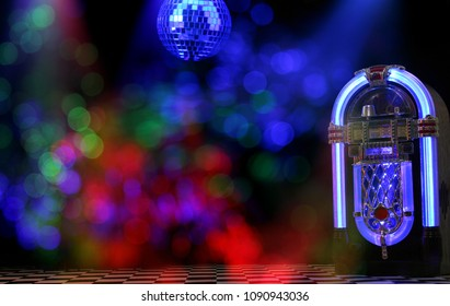 Jukebox With Disco Ball