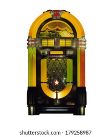 Jukebox in Studio isolated against white background