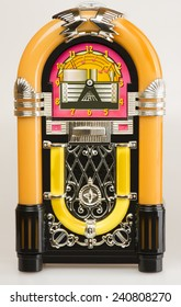 Jukebox,Vintage Jukebox on white background.