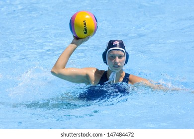 Jul 25 2009; Rome Italy; USA team player Alison Gregorka competing in the quarter final Qualification round match between China and USA at the Fina World Aquatics Championships