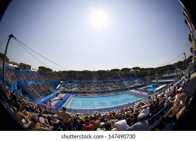 Jul 30 2009; Rome Italy; A general view of the main pool at the 13th Fina World Aquatics Championships held in the The Foro Italico Swimming Complex.