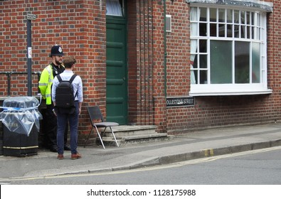Jul 5 2018 Salisbury UK A hostel, home to Dawn Sturgess,1 of the victims of the latest novichok poisoning is under close investigation.The photo was taken just before the road was closed to the public