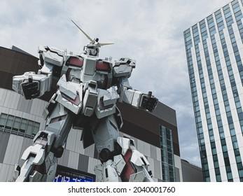 Jul.26,2020  Tokyo, Japan  gundam statue in Odaiba, Tokyo