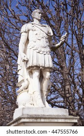 Jules Cesar Statue In Tuilleries Garden Paris