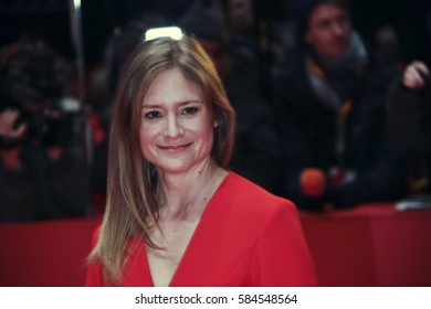 Julia Jentsch arrive for the closing ceremony of the 67th Berlinale International Film Festival Berlin at Berlinale Palace on February 18, 2017 in Berlin, Germany.